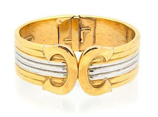 An Italian Replica Gold and Silvertone Bracelet