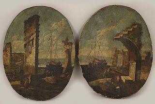 (pair) in the manner of FRANCESCO GUARDI (Italian, 1712-1793)