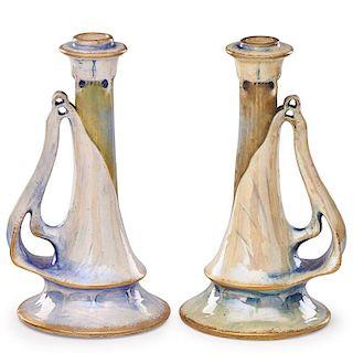 RIESSNER, STELLMACHER & KESSEL Two candlesticks