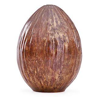 JEAN DUNAND Gourd vase