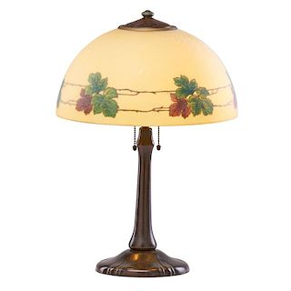 HANDEL Table lamp with maple leaves