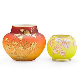 THOMAS WEBB & SONS Two vases