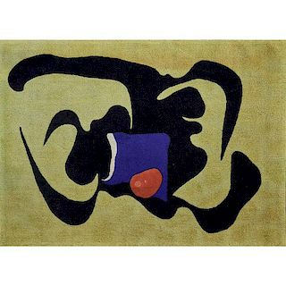 "ARSHILE GORKY; V'SOSKE ""Bull in the Sun"" rug"