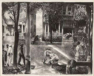 George Bellows (American, 1882-1925)  Sixteen East Gay Street
