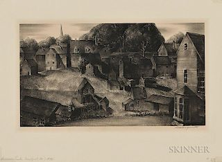 Stow Wengenroth (American, 1906-1978)  Summer Dusk (Eastport, Maine)