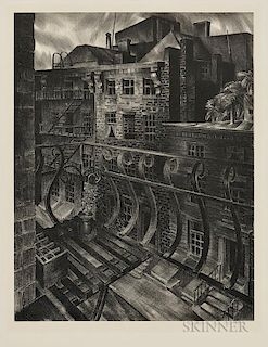 Stow Wengenroth (American, 1906-1978)  City Street (New York, New York)
