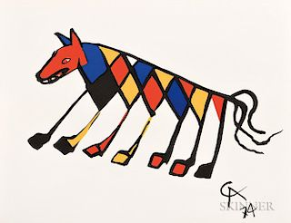 Alexander Calder (American, 1898-1976)  Five Plates from the Suite Flying Colors  :  Beastie  Skybird  Friendship  Skyswirl