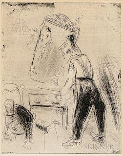 Marc Chagall (Russian/French, 1887-1985)  La toilette de Tchitchikov