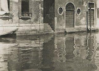 Alfred Stieglitz (American, 1864-1946)  Reflections, Venice