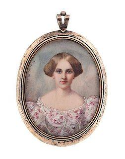 Portrait Miniature by Florence Mackubin