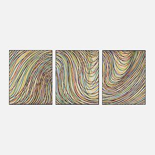Sol LeWitt, Wavy Lines on Gray (triptych)