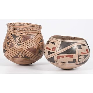 Mimbres and Gila River Pottery Bowls, From the Collection of