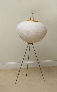 ISAMU NOGUCHI METAL, PAPER AND BAMBOO '10A' FLOOR LAMP FOR AKARI