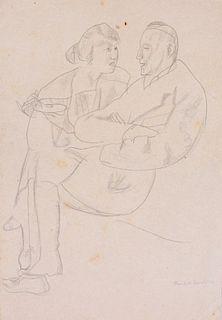 REINHOLD EWALD (1890-1974): HERR UND FRAU; AND DRIE KOPFE