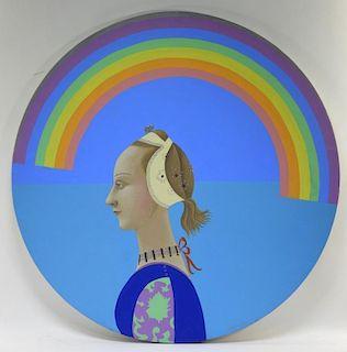 Sante Graziani A/C Muralist Rainbow Painting