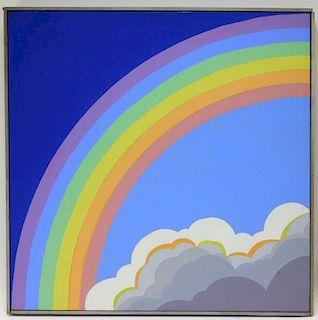 Sante Graziani A/C Muralist Rainbow Sky Painting