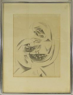 Gino Conti Abstract Portrait Pencil Drawing