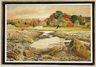 Charles Springer WC Landscape Painting
