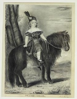 Winfred Adams Young Cavalier Shetland Drawing