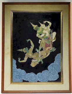 N. Saropas Thai WC Fantasy Erotic Deity Painting