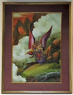 N. Saropas Thai WC Fantasy Deity Painting