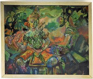 Stanley Jackson O/C Fantasy Deity Play Painting