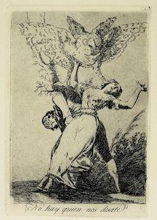 Francisco de Goya Etching No hay Quien Nos Desate?