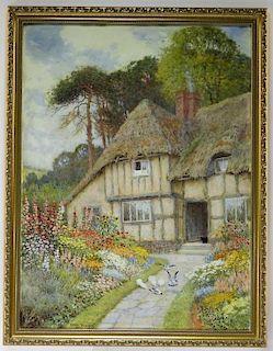 Arthur Claude Strachan Cottage Garden WC Painting