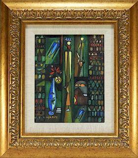 Jose Mijares Fernandez Abstract O/C Painting