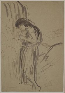 "John,  Augustus,  British 1878-1961,""Flute Player"","