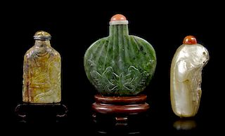 * A Group of Six Snuff Bottles, Height of tallest 2 3/4 inches.