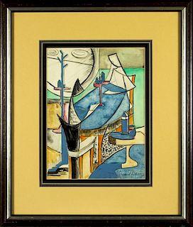 Stuart Davis (american,1892-1964) mixed media