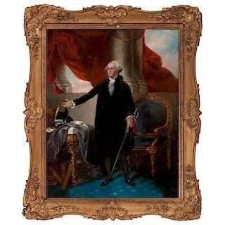 After Gilbert Stuart, Portrait of George Washington, Lansdowne Version