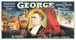George the Magician. Triumphant American Tour Billboard Poster.