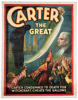Carter the Great. Condemned to Death for Witchcraft. Cheats the Gallows.