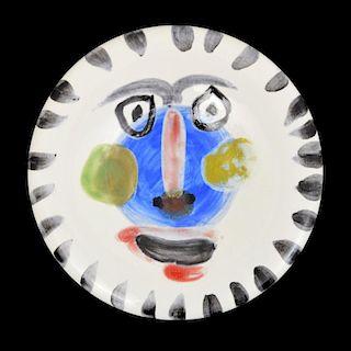 Pablo Picasso VISAGE NO. 202 Plate (A.R. 495)