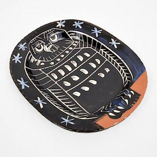 Large Pablo Picasso HIBOU BRILLANT Charger (A.R. 285)