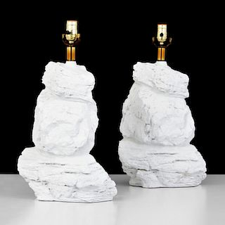 Pair of Rock-Form Lamps, Manner of Sirmos