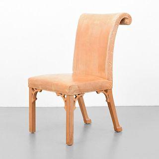 Rare John Dickinson Prototype Hand-Carved Chair