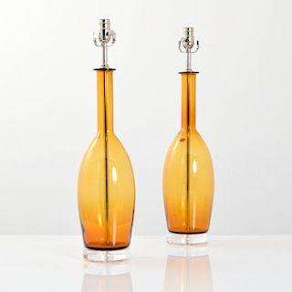 Pair of Balboa Lamps, Murano