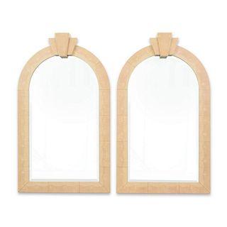 Pair of Large Karl Springer Mirrors