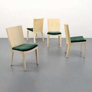 Karl Springer JMF Dining Chairs, Set of 4