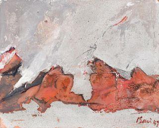 Alberto Burri Mixed Media Painting, Original Work