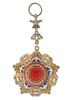 A 1ST CLASS SET OF THE CHINESE ORDER OF THE BRILLIANT JADE
