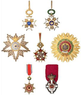 A GROUP OF SEVEN MEDALS BELONGING TO VICTOR HOO