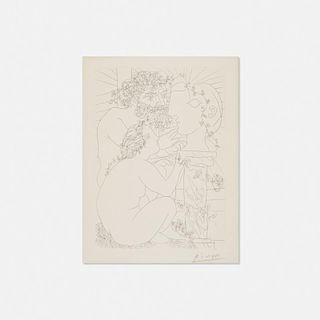 Pablo Picasso, Sculpteur, Modele accroupi et Tete sculptee from La Suite Vollard