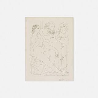 Pablo Picasso, Sculpteur, Modele et Buste sculpte from La Suite Vollard