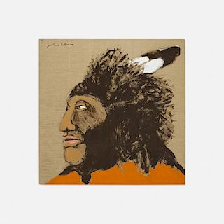 Fritz Scholder, Indian with Porcupine Headdress