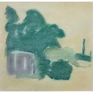 "After: Giorgio Morandi, Italian (1890 - 1964)  1970's Offset reproduction on Fabriano paper ""Landscape"""