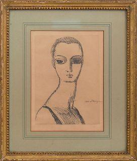 AFTER KEES VAN DONGEN (1877-1968): GIRL WITH SWAN NECK